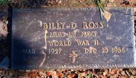 ROSS, BILLY D (VETERAN WWII) - Caddo County, Louisiana   BILLY D (VETERAN WWII) ROSS - Louisiana Gravestone Photos