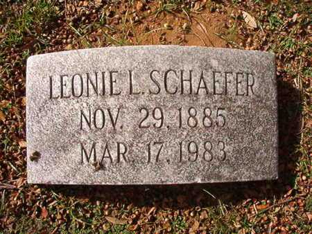SCHAEFER, LEONIE L - Caddo County, Louisiana | LEONIE L SCHAEFER - Louisiana Gravestone Photos
