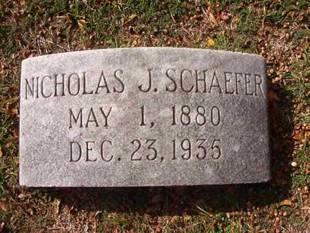 SCHAEFER, NICHOLAS J - Caddo County, Louisiana | NICHOLAS J SCHAEFER - Louisiana Gravestone Photos