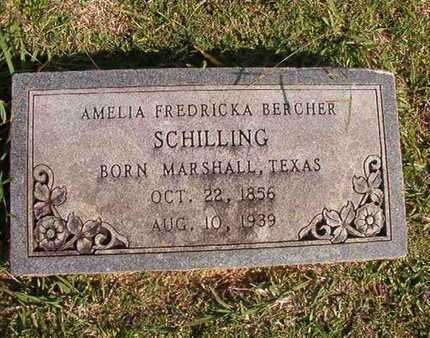 SCHILLING, AMELIA FREDRICKA - Caddo County, Louisiana | AMELIA FREDRICKA SCHILLING - Louisiana Gravestone Photos