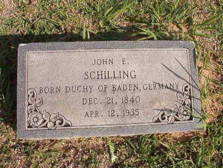SCHILLING, JOHN E - Caddo County, Louisiana | JOHN E SCHILLING - Louisiana Gravestone Photos