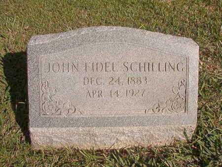 SCHILLING, JOHN FIDEL - Caddo County, Louisiana | JOHN FIDEL SCHILLING - Louisiana Gravestone Photos