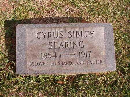SEARING, CYRUS SIBLEY - Caddo County, Louisiana | CYRUS SIBLEY SEARING - Louisiana Gravestone Photos