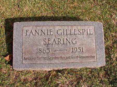 SEARING, FANNIE - Caddo County, Louisiana | FANNIE SEARING - Louisiana Gravestone Photos