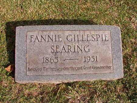 SEARING, FANNIE - Caddo County, Louisiana | FANNIE SEARING - Louisiana Gravestone Photos