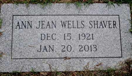 WELLS SHAVER, ANN JEAN - Caddo County, Louisiana | ANN JEAN WELLS SHAVER - Louisiana Gravestone Photos