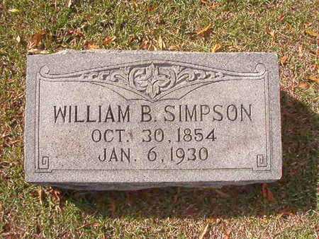 SIMPSON, WILLIAM B - Caddo County, Louisiana | WILLIAM B SIMPSON - Louisiana Gravestone Photos