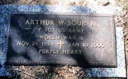 SOUR, ARTHUR W, JR (VETERAN WWII) - Caddo County, Louisiana | ARTHUR W, JR (VETERAN WWII) SOUR - Louisiana Gravestone Photos
