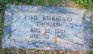 THOMAN, ESME - Caddo County, Louisiana | ESME THOMAN - Louisiana Gravestone Photos