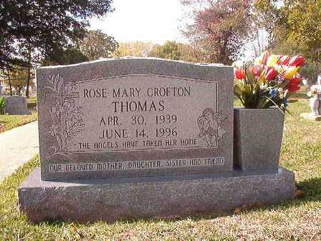 CROFTON THOMAS, ROSE MARY - Caddo County, Louisiana | ROSE MARY CROFTON THOMAS - Louisiana Gravestone Photos