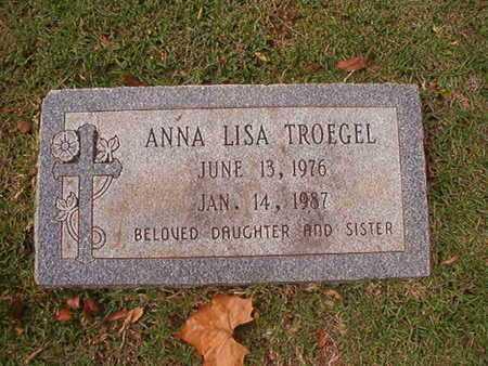 TROEGEL, ANNA LISA - Caddo County, Louisiana | ANNA LISA TROEGEL - Louisiana Gravestone Photos
