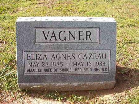 CAZEAU VAGNER, ELIZA AGNES - Caddo County, Louisiana | ELIZA AGNES CAZEAU VAGNER - Louisiana Gravestone Photos