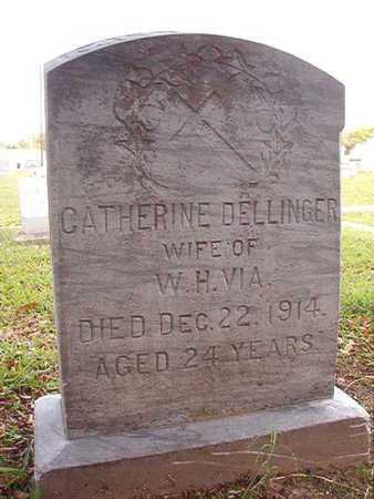 DELLINGER VIA, CATHERINE - Caddo County, Louisiana | CATHERINE DELLINGER VIA - Louisiana Gravestone Photos