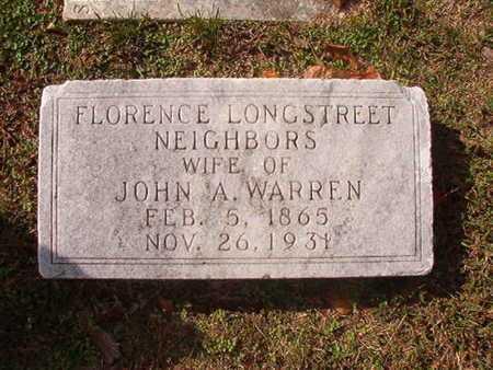 LONGSTREET NEIGHBORS WARREN, FLORENCE - Caddo County, Louisiana | FLORENCE LONGSTREET NEIGHBORS WARREN - Louisiana Gravestone Photos