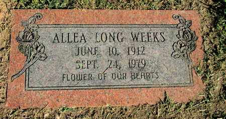WEEKS, ALLEA - Caddo County, Louisiana | ALLEA WEEKS - Louisiana Gravestone Photos