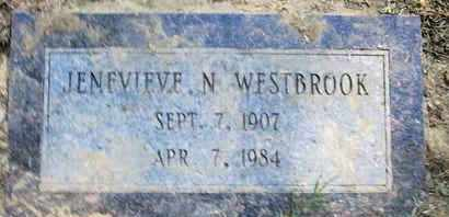 WESTBROOK, JENEVIEVE N - Caddo County, Louisiana | JENEVIEVE N WESTBROOK - Louisiana Gravestone Photos