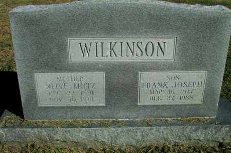 MOTZ WILKINSON, OLIVE - Caddo County, Louisiana | OLIVE MOTZ WILKINSON - Louisiana Gravestone Photos
