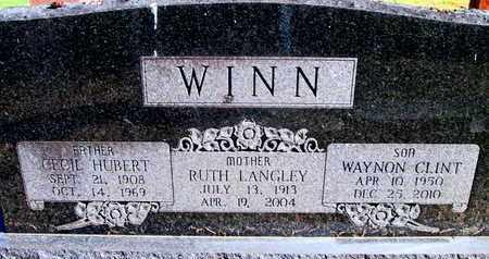 LANGLEY WINN, RUTH - Caddo County, Louisiana | RUTH LANGLEY WINN - Louisiana Gravestone Photos