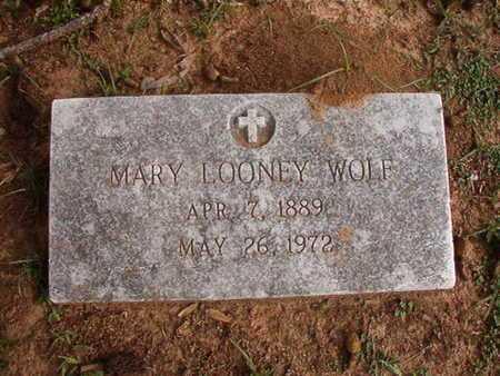 LOONEY WOLF, MARY - Caddo County, Louisiana | MARY LOONEY WOLF - Louisiana Gravestone Photos