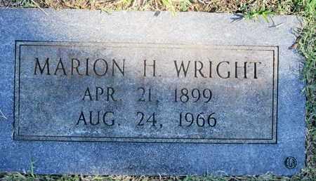 WRIGHT, MARION H - Caddo County, Louisiana | MARION H WRIGHT - Louisiana Gravestone Photos