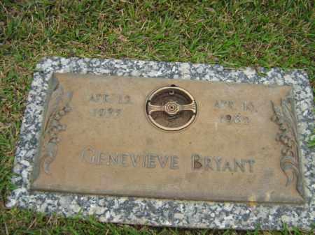 BRYANT, GENEVIEVE - Calcasieu County, Louisiana | GENEVIEVE BRYANT - Louisiana Gravestone Photos