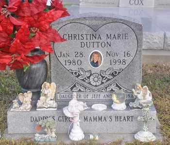 DUTTON, CHRISTINA MARIE - Calcasieu County, Louisiana | CHRISTINA MARIE DUTTON - Louisiana Gravestone Photos