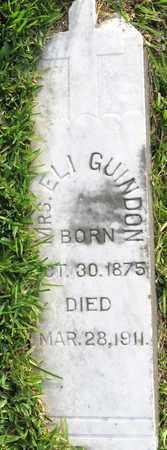 GUINDON, MRS ELI - Calcasieu County, Louisiana | MRS ELI GUINDON - Louisiana Gravestone Photos