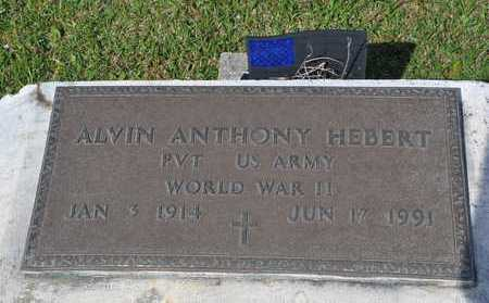 HEBERT, ALVIN ANTHONY  (VETERAN WWII) - Calcasieu County, Louisiana | ALVIN ANTHONY  (VETERAN WWII) HEBERT - Louisiana Gravestone Photos