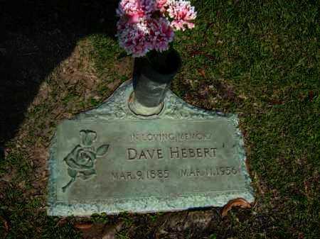 HEBERT, DAVE - Calcasieu County, Louisiana | DAVE HEBERT - Louisiana Gravestone Photos