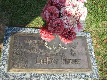 HEBERT, LEEROY - Calcasieu County, Louisiana | LEEROY HEBERT - Louisiana Gravestone Photos