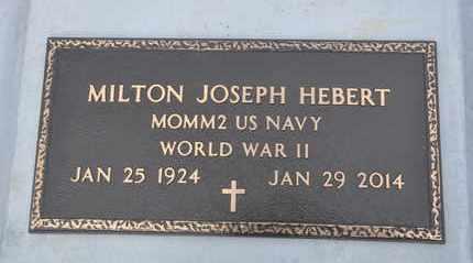 HEBERT, MILTON JOSEPH  (VETERAN WWII) - Calcasieu County, Louisiana | MILTON JOSEPH  (VETERAN WWII) HEBERT - Louisiana Gravestone Photos