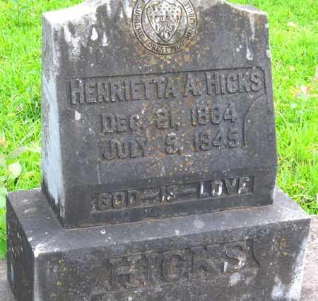 HICKS, HENRIETTA A (CLOSEUP) - Calcasieu County, Louisiana   HENRIETTA A (CLOSEUP) HICKS - Louisiana Gravestone Photos