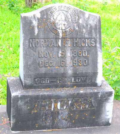 HICKS, NORMAN F (CLOSEUP) - Calcasieu County, Louisiana | NORMAN F (CLOSEUP) HICKS - Louisiana Gravestone Photos