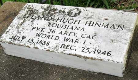 HINMAN, LELAND HUGH (VETERAN WWI) (CLOSEUP) - Calcasieu County, Louisiana | LELAND HUGH (VETERAN WWI) (CLOSEUP) HINMAN - Louisiana Gravestone Photos