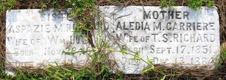 RICHARD, ALEDIA M - Calcasieu County, Louisiana | ALEDIA M RICHARD - Louisiana Gravestone Photos