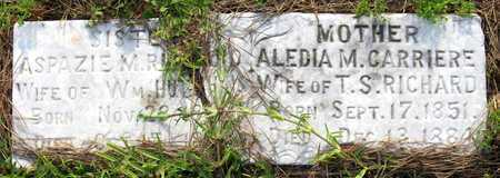 RICHARD HUTCHINS, ASPAZIE M - Calcasieu County, Louisiana | ASPAZIE M RICHARD HUTCHINS - Louisiana Gravestone Photos