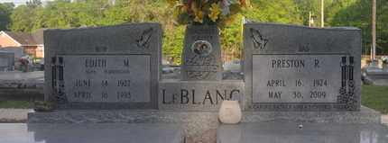 LEBLANC, EDITH M - Calcasieu County, Louisiana   EDITH M LEBLANC - Louisiana Gravestone Photos