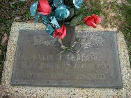LEBLANC, FELIX J. - Calcasieu County, Louisiana   FELIX J. LEBLANC - Louisiana Gravestone Photos