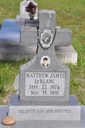 LEBLANC, MATTHEW JAMES - Calcasieu County, Louisiana | MATTHEW JAMES LEBLANC - Louisiana Gravestone Photos