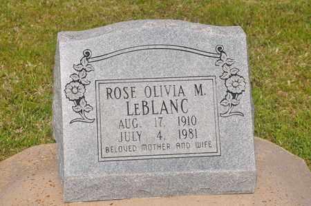 LEBLANC, ROSE OLIVIA M - Calcasieu County, Louisiana   ROSE OLIVIA M LEBLANC - Louisiana Gravestone Photos