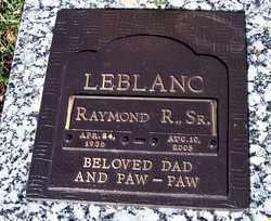LEBLANC, RAYMOND ROBERT, SR - Calcasieu County, Louisiana | RAYMOND ROBERT, SR LEBLANC - Louisiana Gravestone Photos