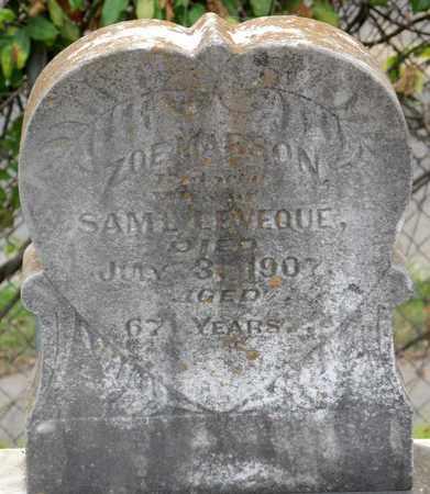 LEVEQUE, ZOE - Calcasieu County, Louisiana | ZOE LEVEQUE - Louisiana Gravestone Photos