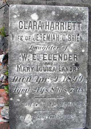 O'BRIEN, CLARA HARRIETT (CLOSEUP) - Calcasieu County, Louisiana | CLARA HARRIETT (CLOSEUP) O'BRIEN - Louisiana Gravestone Photos