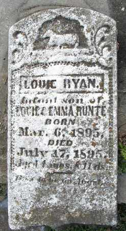 RUNTE, LOUIE RYAN - Calcasieu County, Louisiana | LOUIE RYAN RUNTE - Louisiana Gravestone Photos