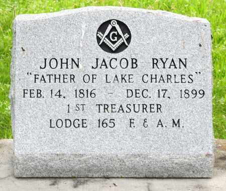 RYAN, JOHN JACOB (CLOSEUP) - Calcasieu County, Louisiana | JOHN JACOB (CLOSEUP) RYAN - Louisiana Gravestone Photos