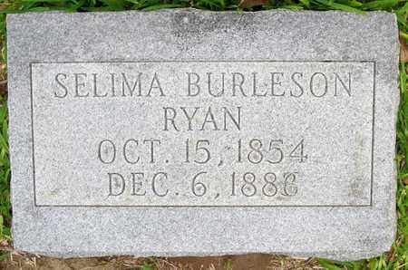 BURLESON RYAN, SELIMA - Calcasieu County, Louisiana | SELIMA BURLESON RYAN - Louisiana Gravestone Photos