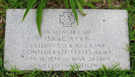 RYAN, ISAAC (VETERAN CSA, KIA) - Calcasieu County, Louisiana | ISAAC (VETERAN CSA, KIA) RYAN - Louisiana Gravestone Photos