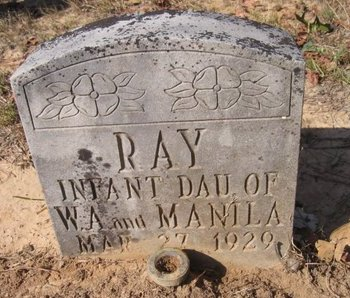 RAY, INFANT DAUGHTER - Caldwell County, Louisiana | INFANT DAUGHTER RAY - Louisiana Gravestone Photos