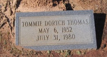 DORTCH THOMAS, TOMMIE L. - Caldwell County, Louisiana | TOMMIE L. DORTCH THOMAS - Louisiana Gravestone Photos