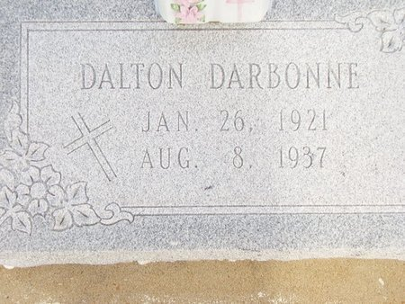 DARBONNE, DALTON - Cameron County, Louisiana | DALTON DARBONNE - Louisiana Gravestone Photos